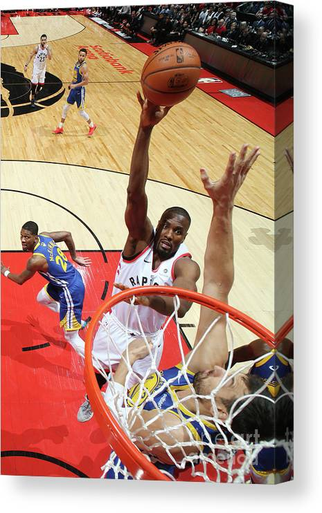 Playoffs Canvas Print featuring the photograph Serge Ibaka by Nathaniel S. Butler