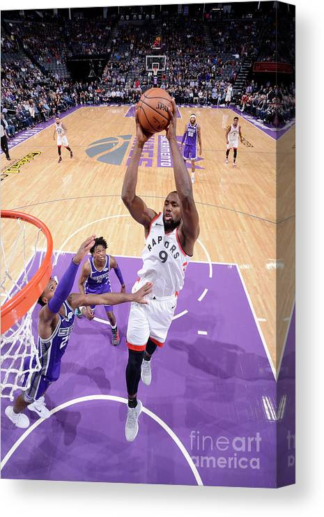 Nba Pro Basketball Canvas Print featuring the photograph Serge Ibaka by Rocky Widner