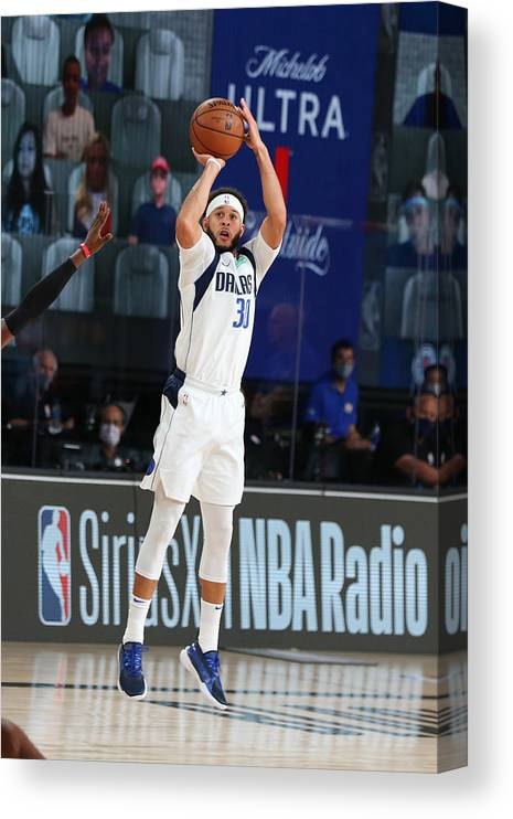 Playoffs Canvas Print featuring the photograph Seth Curry by David Sherman