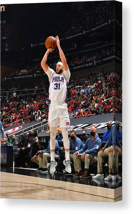 Atlanta Canvas Print featuring the photograph Seth Curry by Jesse D. Garrabrant