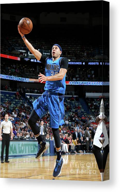 Smoothie King Center Canvas Print featuring the photograph Seth Curry by Layne Murdoch Jr.