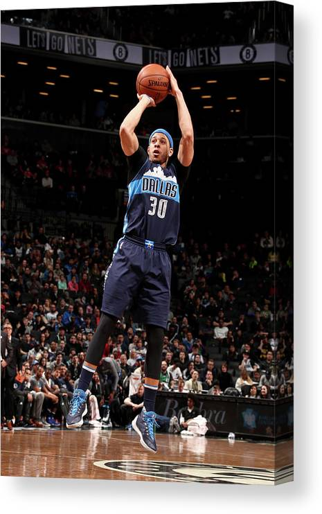Nba Pro Basketball Canvas Print featuring the photograph Seth Curry by Nathaniel S. Butler
