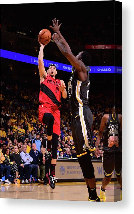 Playoffs Canvas Print featuring the photograph Seth Curry by Noah Graham
