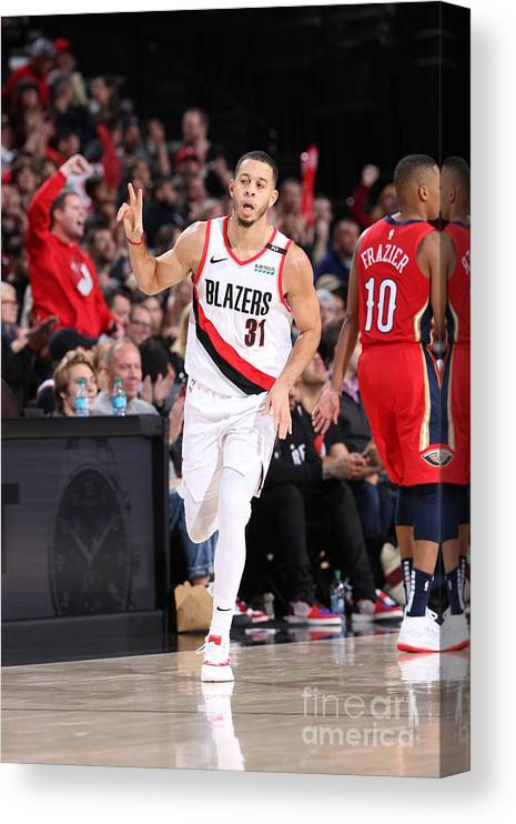 Nba Pro Basketball Canvas Print featuring the photograph Seth Curry by Sam Forencich