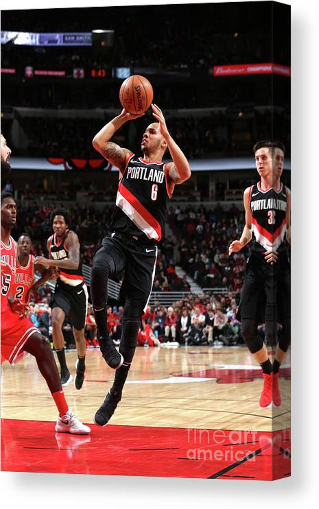 Nba Pro Basketball Canvas Print featuring the photograph Shabazz Napier by Gary Dineen