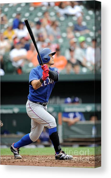 People Canvas Print featuring the photograph Shin-soo Choo by Greg Fiume