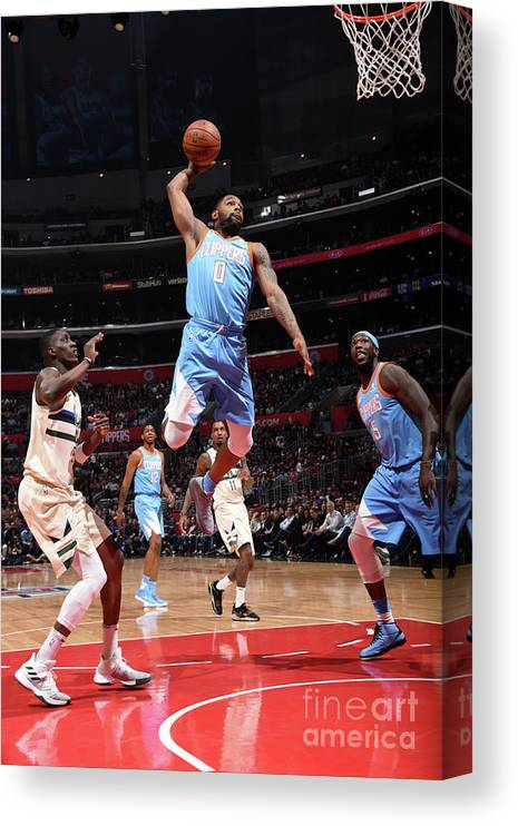 Nba Pro Basketball Canvas Print featuring the photograph Sindarius Thornwell by Andrew D. Bernstein