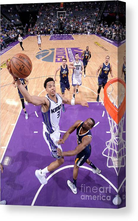 Nba Pro Basketball Canvas Print featuring the photograph Skal Labissiere by Rocky Widner