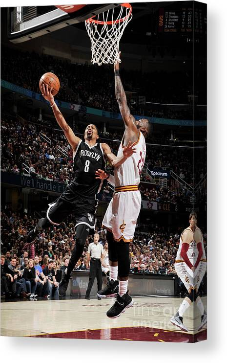 Nba Pro Basketball Canvas Print featuring the photograph Spencer Dinwiddie by David Liam Kyle