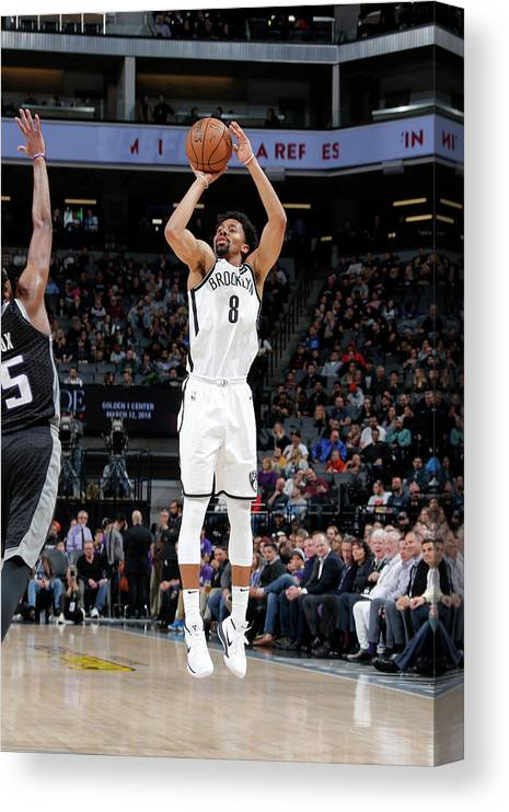 Nba Pro Basketball Canvas Print featuring the photograph Spencer Dinwiddie by Rocky Widner