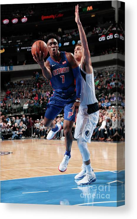 Nba Pro Basketball Canvas Print featuring the photograph Stanley Johnson by Glenn James