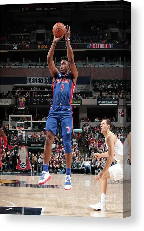 Nba Pro Basketball Canvas Print featuring the photograph Stanley Johnson by Ron Hoskins