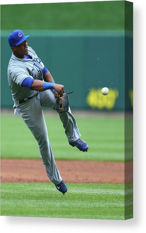 Second Inning Canvas Print featuring the photograph Starlin Castro by Dilip Vishwanat