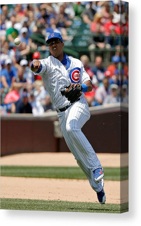 People Canvas Print featuring the photograph Starlin Castro by Jon Durr