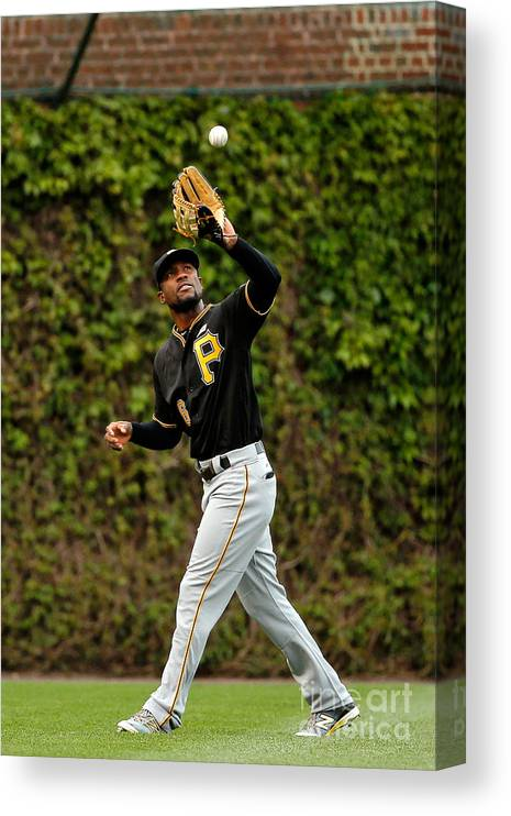 Second Inning Canvas Print featuring the photograph Starling Marte by Jon Durr