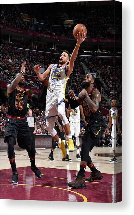Nba Pro Basketball Canvas Print featuring the photograph Stephen Curry by David Liam Kyle