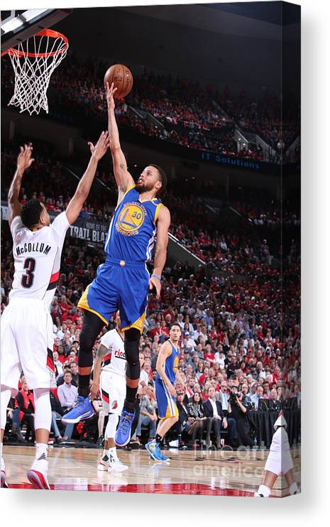 Playoffs Canvas Print featuring the photograph Stephen Curry by Sam Forencich