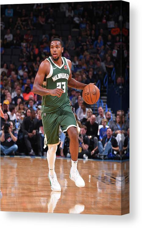 Nba Pro Basketball Canvas Print featuring the photograph Sterling Brown by Bill Baptist