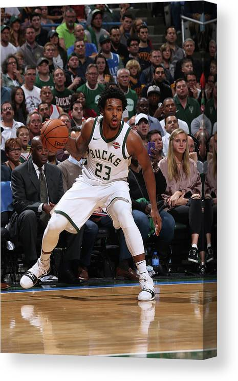 Nba Pro Basketball Canvas Print featuring the photograph Sterling Brown by Gary Dineen