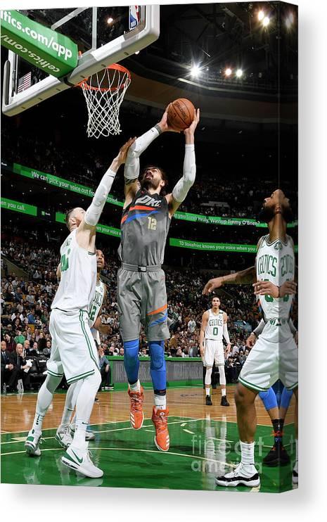 Nba Pro Basketball Canvas Print featuring the photograph Steven Adams by Brian Babineau