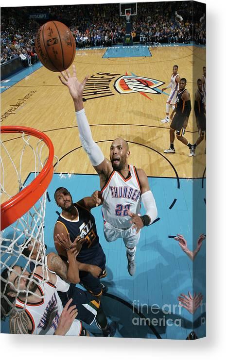 Nba Pro Basketball Canvas Print featuring the photograph Taj Gibson by Layne Murdoch