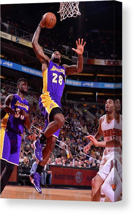 Nba Pro Basketball Canvas Print featuring the photograph Tarik Black by Barry Gossage