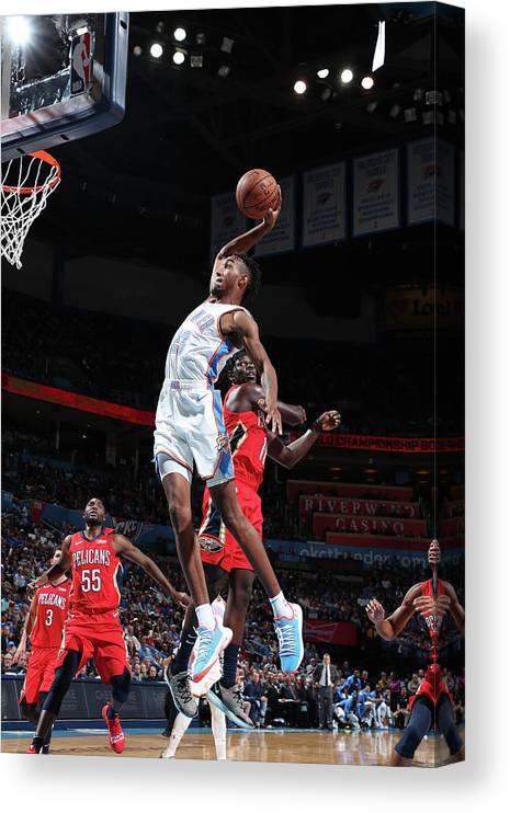 Nba Pro Basketball Canvas Print featuring the photograph Terrance Ferguson by Joe Murphy