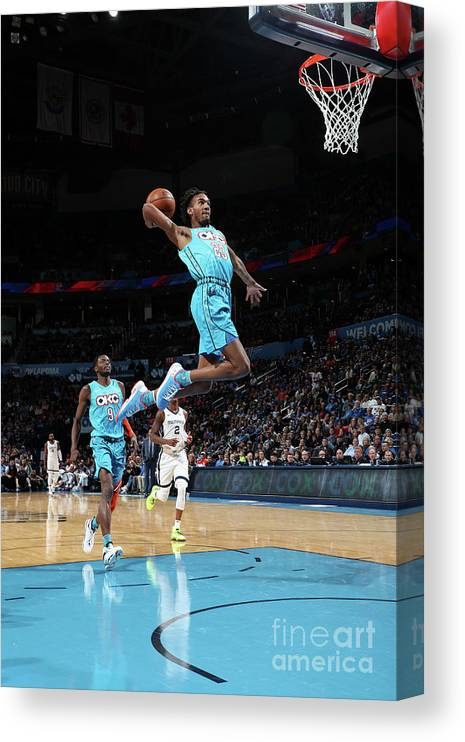Nba Pro Basketball Canvas Print featuring the photograph Terrance Ferguson by Zach Beeker