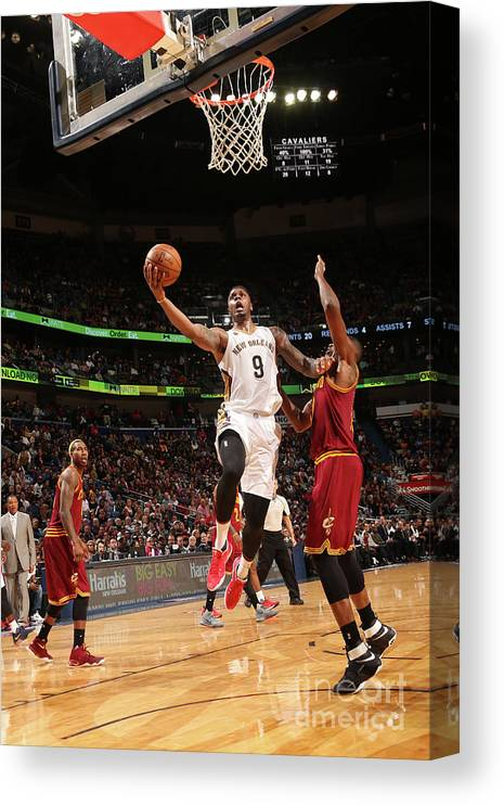 Smoothie King Center Canvas Print featuring the photograph Terrence Jones by Layne Murdoch