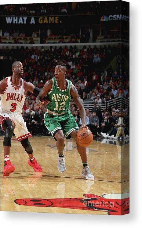 Nba Pro Basketball Canvas Print featuring the photograph Terry Rozier by Gary Dineen