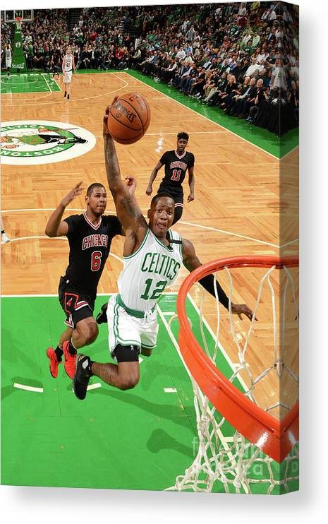Playoffs Canvas Print featuring the photograph Terry Rozier by Jesse D. Garrabrant