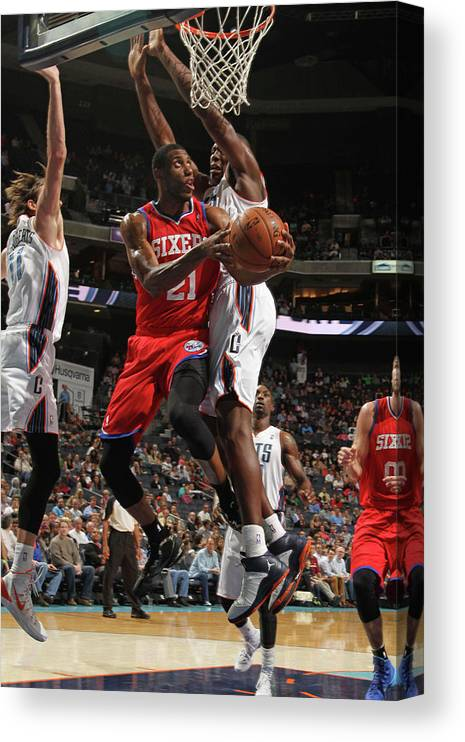 Nba Pro Basketball Canvas Print featuring the photograph Thaddeus Young by Brock Williams-smith