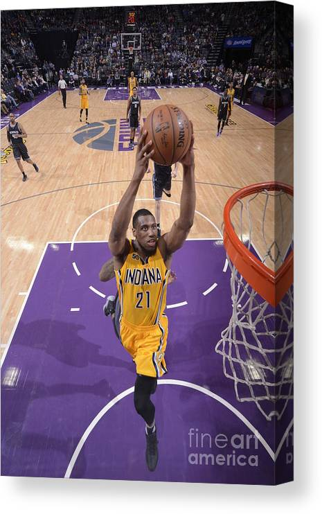 Nba Pro Basketball Canvas Print featuring the photograph Thaddeus Young by Rocky Widner