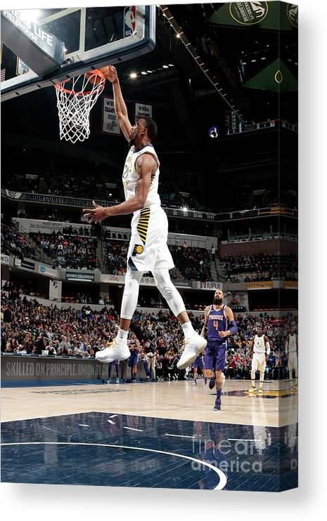 Nba Pro Basketball Canvas Print featuring the photograph Thaddeus Young by Ron Hoskins