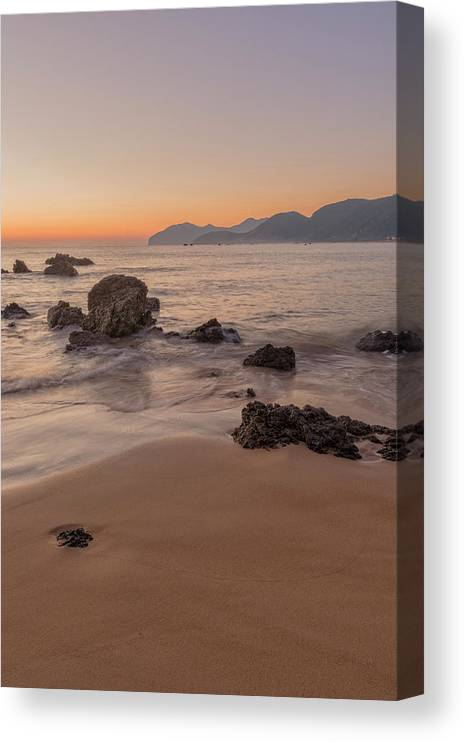 Shore Canvas Print featuring the photograph The Beach Of Trengandin In Noja, Cantabria by Vicen Photography