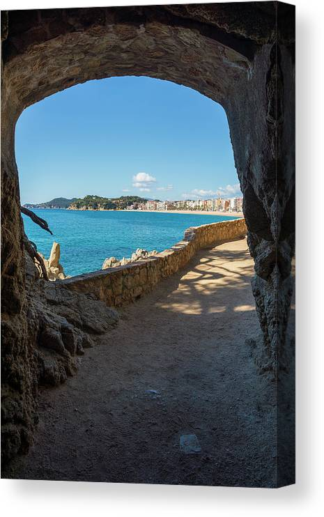 Camins Canvas Print featuring the photograph The Cami De Ronda By Lloret De Mar, Girona by Vicen Photography