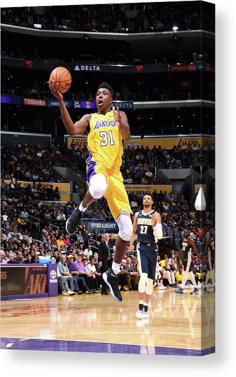 Nba Pro Basketball Canvas Print featuring the photograph Thomas Bryant by Andrew D. Bernstein