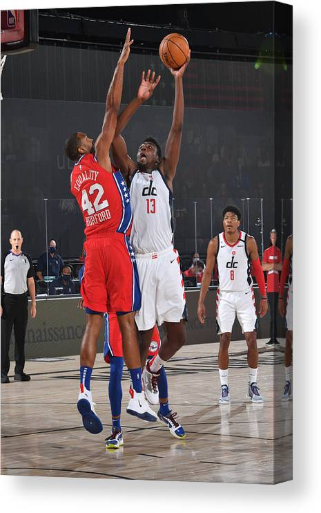 Nba Pro Basketball Canvas Print featuring the photograph Thomas Bryant by Jesse D. Garrabrant