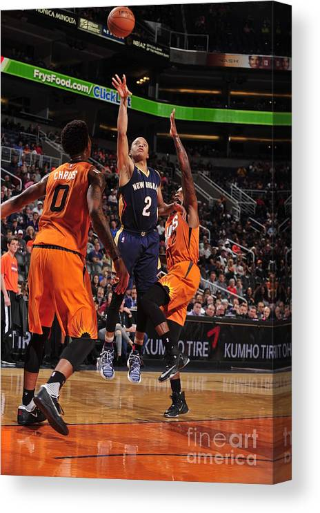 Nba Pro Basketball Canvas Print featuring the photograph Tim Frazier by Barry Gossage
