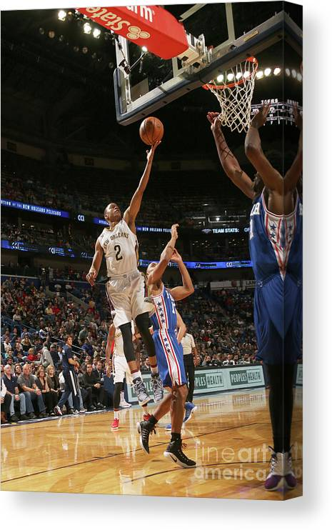 Smoothie King Center Canvas Print featuring the photograph Tim Frazier by Layne Murdoch