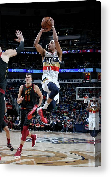 Smoothie King Center Canvas Print featuring the photograph Tim Frazier by Layne Murdoch Jr.