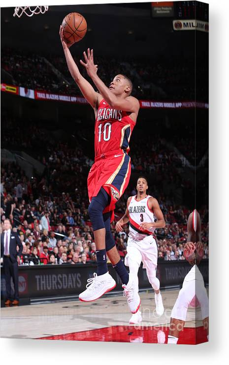 Nba Pro Basketball Canvas Print featuring the photograph Tim Frazier by Sam Forencich