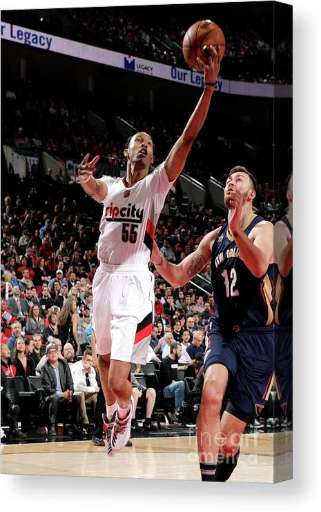 Nba Pro Basketball Canvas Print featuring the photograph Tim Quarterman by Cameron Browne