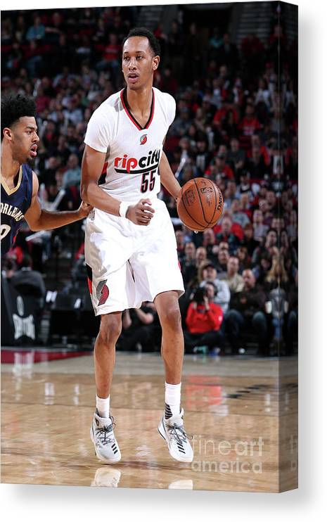 Nba Pro Basketball Canvas Print featuring the photograph Tim Quarterman by Sam Forencich