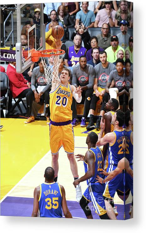 Nba Pro Basketball Canvas Print featuring the photograph Timofey Mozgov by Aaron Poole