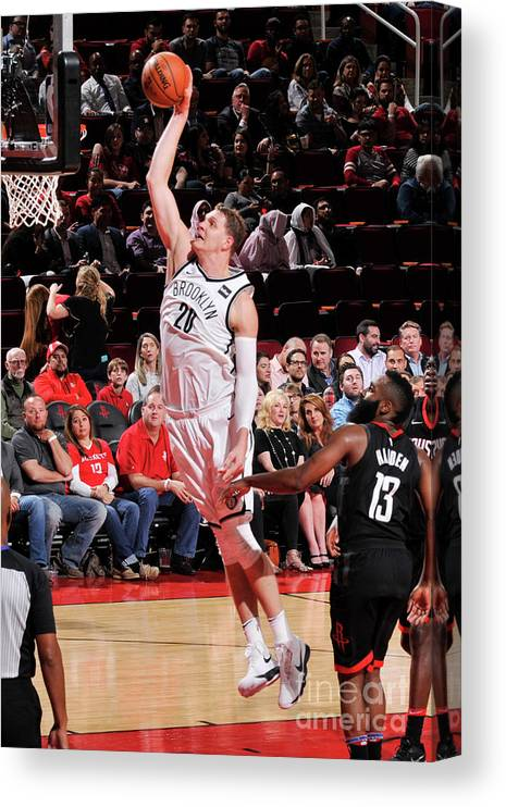Nba Pro Basketball Canvas Print featuring the photograph Timofey Mozgov by Bill Baptist