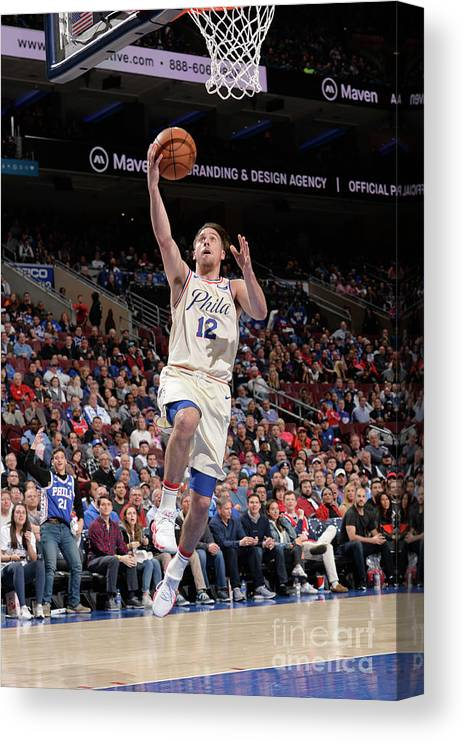 Sports Ball Canvas Print featuring the photograph T.j. Mcconnell by David Dow