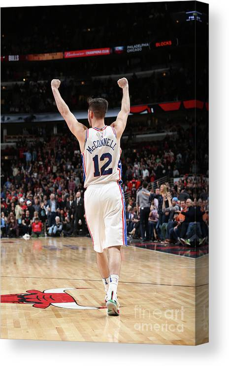 Nba Pro Basketball Canvas Print featuring the photograph T.j. Mcconnell by Gary Dineen