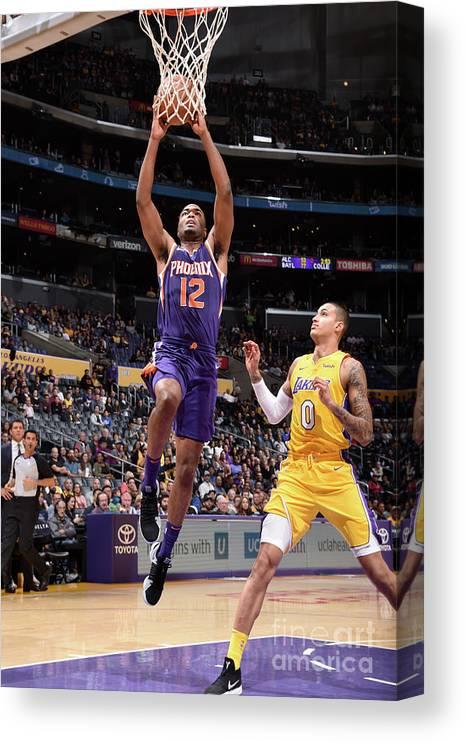 Nba Pro Basketball Canvas Print featuring the photograph T.j. Warren by Andrew D. Bernstein