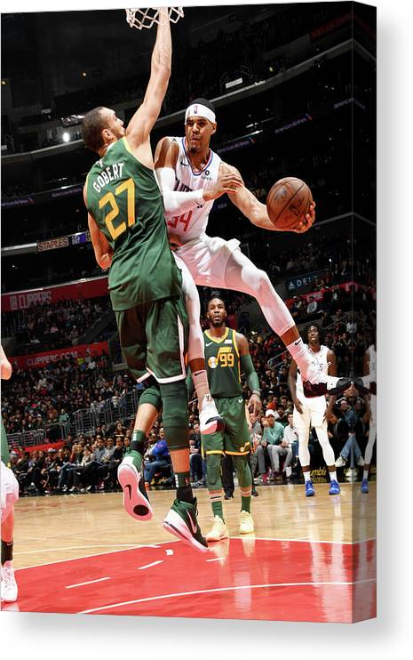 Nba Pro Basketball Canvas Print featuring the photograph Tobias Harris by Andrew D. Bernstein